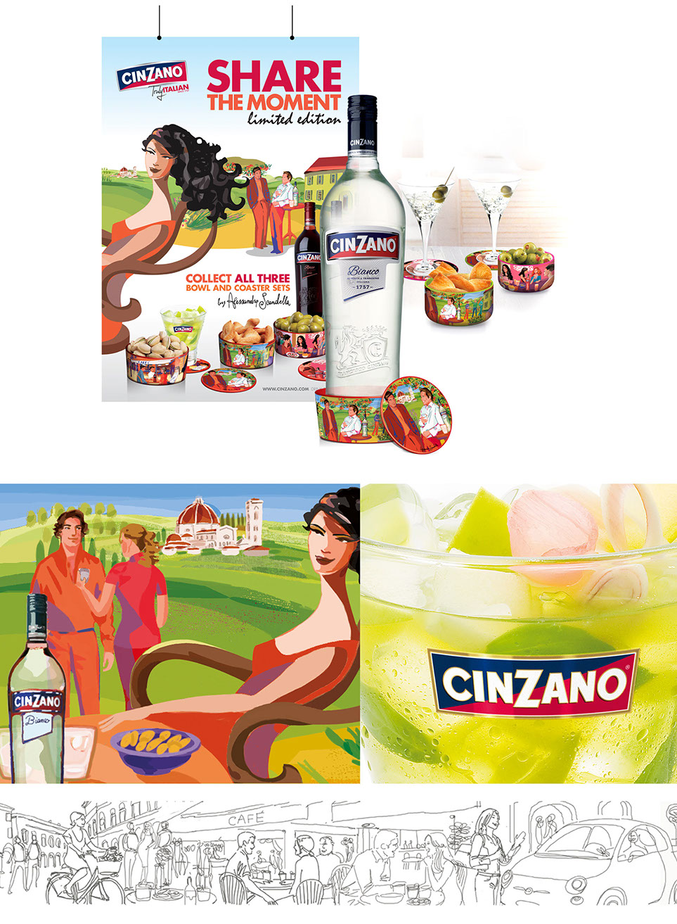 Cinzano share the Moment