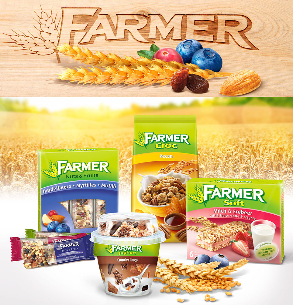 Farmer the swiss cereal brand